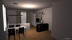 Raumgestaltung living dining room in der Kategorie Esszimmer