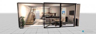 Raumgestaltung Moderner Raum (Küchen- Esszimmer) in der Kategorie Esszimmer