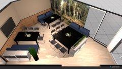 Raumgestaltung Platzverhältnis Kantine 2 in der Kategorie Esszimmer