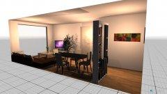 Raumgestaltung Salon comedor in der Kategorie Esszimmer