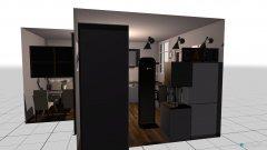 Raumgestaltung Studioapartment Eingang in der Kategorie Esszimmer