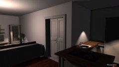 Raumgestaltung unser wohnzimmer und unsere Küche in der Kategorie Esszimmer
