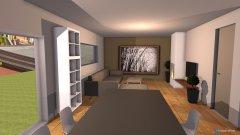 Raumgestaltung Variante 4 Grundriss L-Form Sitting Window Wohnbereich Ofen vorn in der Kategorie Esszimmer