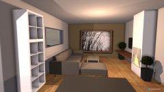 Raumgestaltung Variante 6 Grundriss L-Form Sitting Window Wohnbereich Ofen bei Tür in der Kategorie Esszimmer