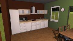 Raumgestaltung Wohn Ess Küche in der Kategorie Esszimmer