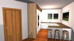 Raumgestaltung Wohn-Essraum in der Kategorie Esszimmer