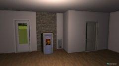 Raumgestaltung Wohn-Esszimmer ohne Möbel in der Kategorie Esszimmer
