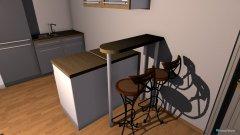 Raumgestaltung Wohn und Essbereich Wohnung  in der Kategorie Esszimmer