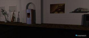 Raumgestaltung Wohn-,und Esszimmer mit Kücher verbunden in der Kategorie Esszimmer