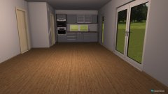Raumgestaltung WohnEssKüche in der Kategorie Esszimmer