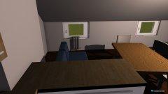 Raumgestaltung Wohnküche offen in der Kategorie Esszimmer