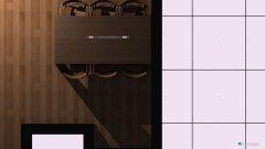 Raumgestaltung Wohnz+Küche-tischquer in der Kategorie Esszimmer