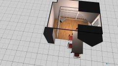 Raumgestaltung Wohnzimmer mit Pflanzen & Esstisch in der Kategorie Esszimmer