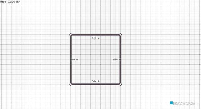 Raumgestaltung Grundrissvorlage Quadrat in der Kategorie Flur