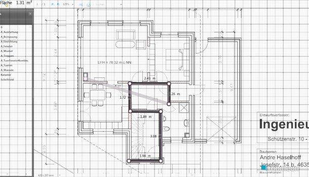 Raumgestaltung Treppenhaus in der Kategorie Flur