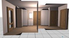 Raumgestaltung Vorzimmer in der Kategorie Flur