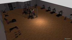 Raumgestaltung Fitness raum  in der Kategorie Foyer