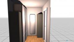 Raumgestaltung schrankraum in der Kategorie Garderobe
