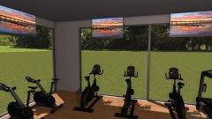Raumgestaltung fittnessraum in der Kategorie Halle