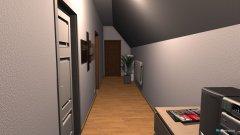 Raumgestaltung Flur zu Bad, Chill-Lounge und Schlafzimmer in der Kategorie Halle