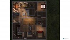 Raumgestaltung Wohnhaus mit Atrium 2 in der Kategorie Halle
