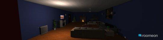 Raumgestaltung Family room with kitchen in der Kategorie Hobbyraum
