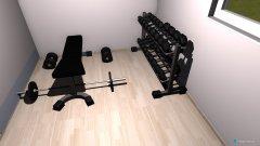 Raumgestaltung Fitnessraum in der Kategorie Hobbyraum