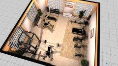 Raumgestaltung Fitnessstudio in der Kategorie Hobbyraum