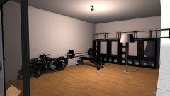Raumgestaltung Garage (Kraft u. Box - Raum) in der Kategorie Hobbyraum