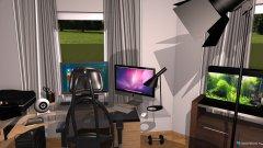 Raumgestaltung Grundrissvorlage Eckraum in der Kategorie Hobbyraum