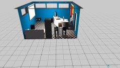 Raumgestaltung Grundrissvorlage Partyraum 2 in der Kategorie Hobbyraum
