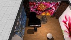 Raumgestaltung Musiczimmer in der Kategorie Hobbyraum