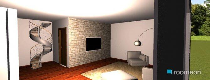 Raumgestaltung obyvak a kuchyn in der Kategorie Hobbyraum