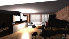 Raumgestaltung open plan living dining in der Kategorie Hobbyraum