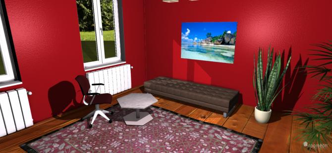 Raumgestaltung Ruheraum rot in der Kategorie Hobbyraum