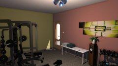 Raumgestaltung siłownia in der Kategorie Hobbyraum
