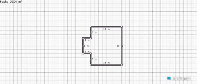 Raumgestaltung Studentenzimmer in der Kategorie Hobbyraum