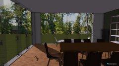 Raumgestaltung Turmzimmer - 1 Tisch in der Kategorie Hobbyraum