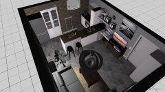 Raumgestaltung Wohnküche ohne Bar in der Kategorie Hobbyraum