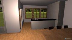 Raumgestaltung V1 Wohn-Ess-Küche in der Kategorie Keller
