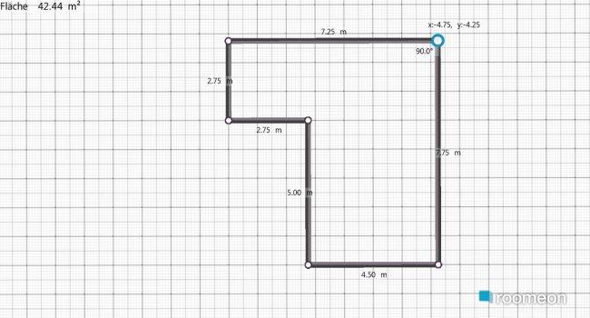 Raumgestaltung wohnzimmer und küche in der Kategorie Keller