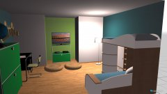 Raumgestaltung Grundrissvorlage Erker in der Kategorie Kinderzimmer