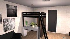 Raumgestaltung Grundrissvorlage Loft-Raum in der Kategorie Kinderzimmer