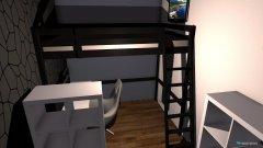Raumgestaltung Hochbett in der Kategorie Kinderzimmer