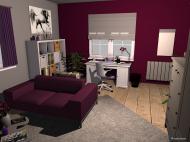 Raumgestaltung Jugendzimmer Mädchen in der Kategorie Kinderzimmer