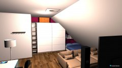 Raumgestaltung Kinderzimmer mit Dachschräge in der Kategorie Kinderzimmer