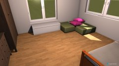 Raumgestaltung Lena Kinderzimmer in der Kategorie Kinderzimmer
