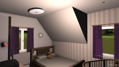 Raumgestaltung Mädchen-Babyzimmer in der Kategorie Kinderzimmer
