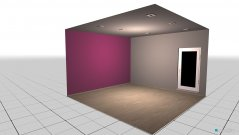 Raumgestaltung Mara Zimmer Aubergine in der Kategorie Kinderzimmer