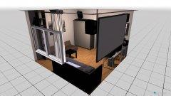 Raumgestaltung Mein Zimmer mit Beamer 2 in der Kategorie Kinderzimmer